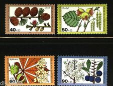 Woodland Plants set of 4 stamps mnh Germany Berlin 1979 Larch, Horse Chestnut