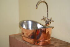 Copper Sink Countertop Vanity-Handmade Basin sink -Vintage Bathroom sink faucet