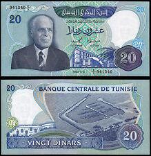 TUNISIA 20 DINARS (P81) 1983 UNC