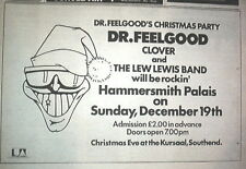 DR FEELGOOD 'Christmas Gigs in London' 1976 UK Press ADVERT 12x8 inches