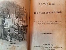 Benjamin The Temperance Boy Antique Book 1853 By C Dean Sabbath School Society