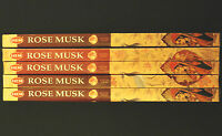 40 Sticks 5 x 8g Boxes HEM ROSE MUSK Floral Fragrance Incense Insence Bulk Packs