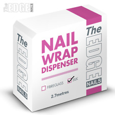 Easy to Use Nail Wrap With Dispenser Silk 2.7m Hygienic Manicure by The Edge