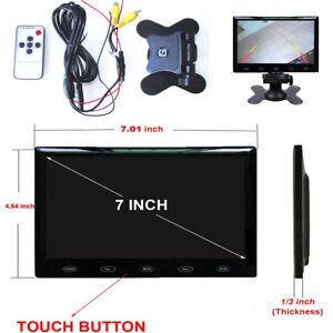 """7"""" TFT LCD Display Car Rear View Monitor Ultra Thin HDMI VGA  with Bracket 12V"""