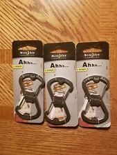 Nite Ize S-Biner Ahhh Stainless Bottle Opener Carabiner Keychain Durable(3-Pack)