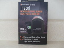 Celestron Firecel Rechargeable Hand Warmer LED Flashlight USB Power Pack Charger