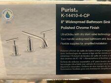 Kohler K-14410-4-CP Purist Widespread Bathroom Sink Faucet