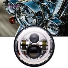 "DOT 7"" LED Projector DRL Headlight Fit For Honda Shadow VT VT1100 VT750 VT600 CB"