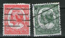Deutsches Reich MiNr. 554- 555 Satz Schiller gestempelt Briefmarken