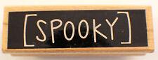 Studio G Happy Halloween Spooky Words Writing Wooden Rubber Stamp