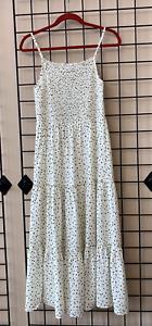 WAREHOUSE 2020 SEASON NEW Ivory Black Stevie Ditsy Floral Dress Size 6 - 18