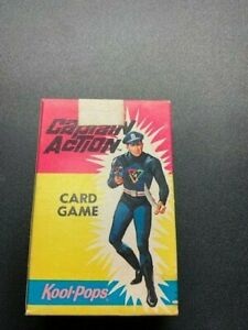 Vintage 1967 Captain Action card game complete set of 36 with box Kool Pops