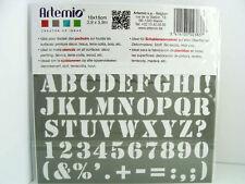 Pochoir Lettre Chiffres Gras tous supports planche 15cm Artemio Home Deco
