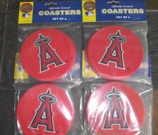 4 - 4 Packs Vinyl Drink Coasters - Los Angeles Angels of Anaheim = 16 Coasters