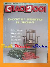 rivista CIAO 2001 43/1990 POSTER Faith No More George Michael Los Lobos * No cd