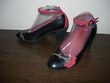 Camper Femmes Cour Chaussures talons en cuir noir Floral Détail UE 37 - 38/UK 4 - 5