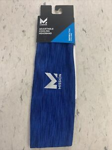Mission VaporActive Lockdown Adjustable Cooling Headband - Royal Blue Space Dye