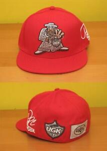 Pimp C of UGK, Fitted Hat size 7-1/2, Red, by ALGIERZ GEAR / New & Ships Free