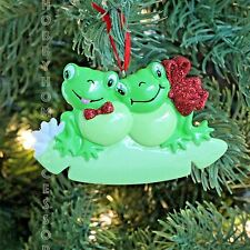 Frog Couple Our 1st Christmas Personalized Tree Ornament Holiday Gift 2016
