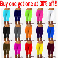Womens Leggings Stretch Biker Shorts Workout Nylon Yoga Pants Size XS,S,M,L New