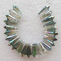 Titanium Crystal Agate Druzy Quartz Geode Stone Pendant Bead 24Pcs/Set D7148