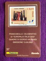TESSERA FILATELICA 2003 EUROPALIA GIORGIO MORANDI
