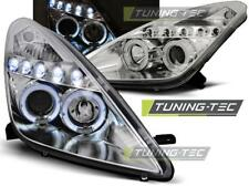 FARI ANTERIORI HEADLIGHTS TOYOTA CELICA T230 99-05 ANGEL EYES CHROME *2924