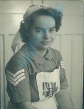 1950's British Red Cross nurse With Sergeants Stripes & Medals 4 x 3 inch
