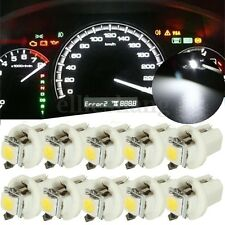 10x T5 White 5050 SMD Car LED Dash Instrument Light Dashboard Bulb Wedge 12V