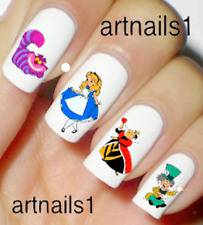 Alice Disney Cat Nail Art Water Slide Decal Stickers Manicure Salon Mani Polish