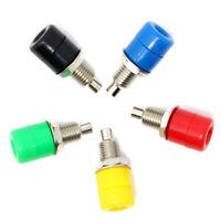 5PCS Mix Color 4mm Nickel Socket Female Banana Plug Socket  Terminal Connector