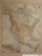 Landkarte von Nordamerika, Velhagen & Klasing 1894