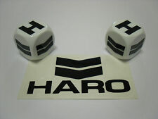 OLD SCHOOL BMX HARO WHITE & BLACK DUST VALVE CAPS MASTER FREESTYLER SPORT