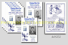 OLDHAM ATHLETIC - REPRO 1920's PINNACE A6 ADVERT CARDS - SET OF 25
