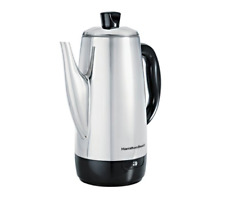 40616 StainlessSteel 12Cup Electric Percolator Coffee Pot Maker Hamilton Beach