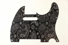 Anodized Black Paisley Aluminum Tele Pickguard Fits Fender Telecaster - USA Made