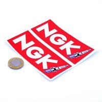 NGK Spark Plugs Stickers Classic Car Motorbike Racing Decals Vinyl 100mm x2