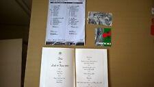 TICKET PSG-MILAN AC 2001+ACCREDITATION ET +/BIGLIETTO DE LA PARTITA AC MILAN