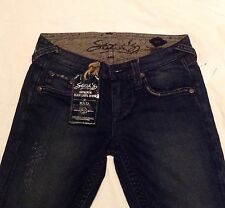 "NWT ""Stitch's"" Black Label/ The Maya, Straight Leg, Dark Denim, Size 27"