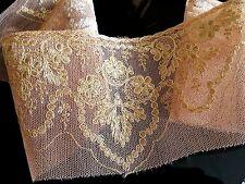 Incrustation vintage en dentelle pour lingerie fond de robe tulle brodé - 12262