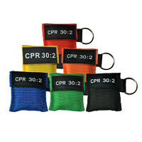 Lot/600 pcs CPR Mask Resuscitator AED 30:2 Keychain Face Shield First Aid