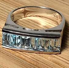 925 Sterling Silver Blue Topaz Ring Size 7