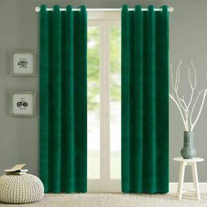 Velvet Blackout Curtains Soft Comfortable Blinds Windows Treatments Home Curtain