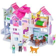 Tragbares Puppenhaus klappbar KP9142 Figuren Zubehör Koffer Spielhaus 2 Etagen