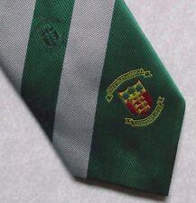 Ashley Wood Golf Club Corbata Vintage Retro 1990s Verde Plata a Rayas Golf