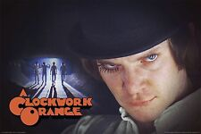 (LAMINATED) CLOCKWORK ORANGE MOVIE POSTER (91x61cm) GROUP CAST ALLEY PICTURE
