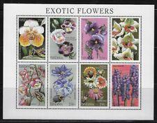 Tanzania: 1998; Souvenir Sheet 8 values, Exotic Flowers, MNH, EBTZ07