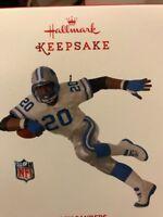 2017 Hallmark Keepsake Ornament NFL Barry Sanders Detroit Lions