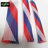 PATRIOT USA BRAIDED EXPANDABLE FLEX SLEEVE WIRING CABLE HARNESS LOOM WIRE COVER