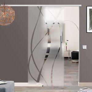 Soft Stop SlimLine Glas Schiebetür Glasmaß 900 x 2050 mm BM6 900GE42#13919-2